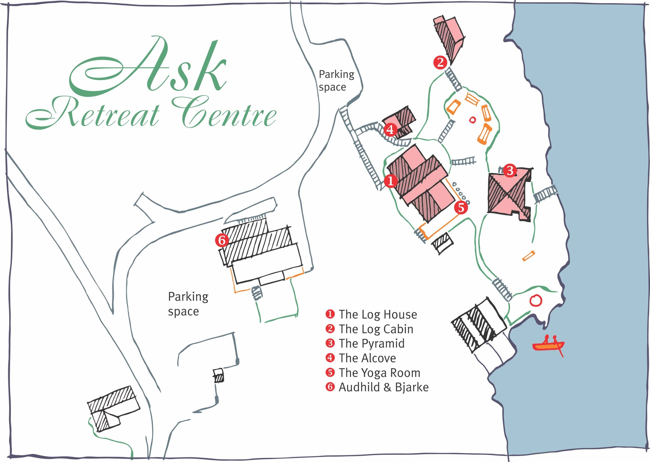 Map of Ask retreat Centre 2020