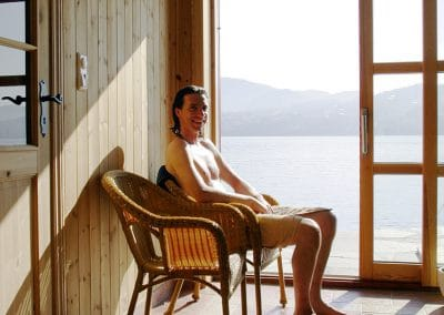 Relaxing after Sauna