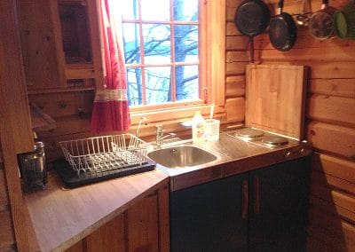 The Kitchen in the Log Cabin