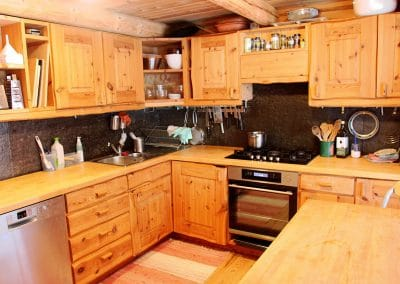 The Kitchen in the main Log House