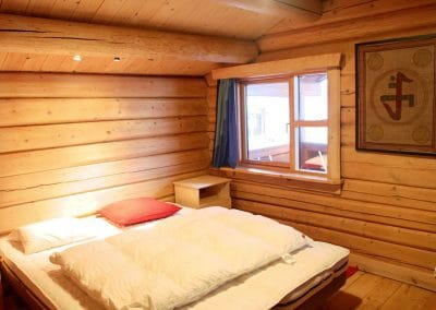2. floor Single / Double Room in the Main Log House