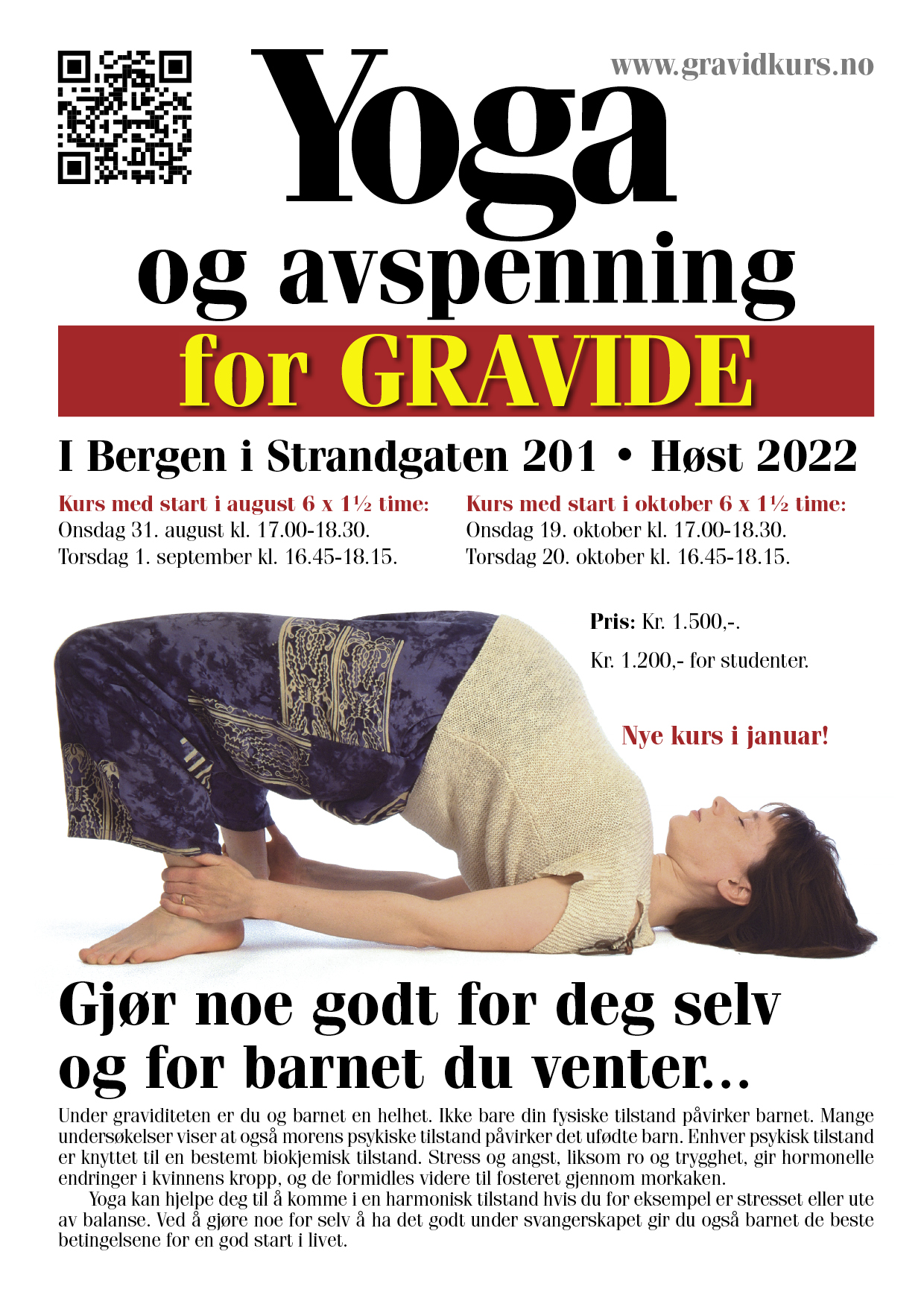 Yoga for gravide brosjyre