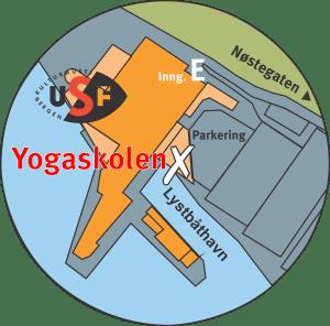 Kart over Georgernes Verft 12 / Yogaskolen