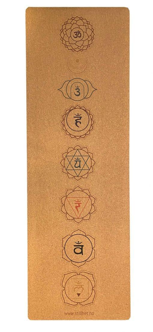 Kork yogamatte - Chakra