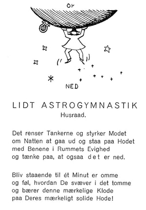 Lidt astrogymnastik (Piet Hein, fra Gruk 2.samling 1941 Politikkens Forlag)
