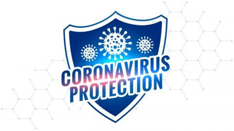 Novel Coronavirus Covid 19 Protection Shield Symbol Design